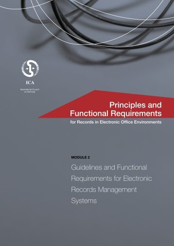 Principles and Functional Requirements for Records in Electronic ...