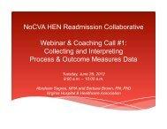 Presentation (PDF) - North Carolina Quality Center