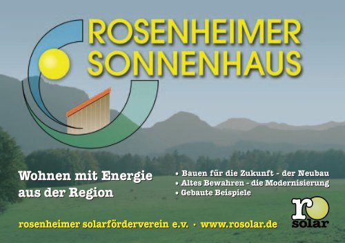 Wohnen mit Energie aus der Region - Rosenheimer ...