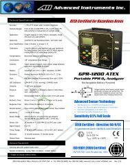 GPR-1200 ATEX Portable PPM O2 Analyzer