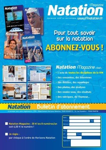 DOSSIER : Rétrospective 2012 - Fédération Française de Natation