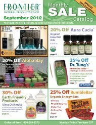 15% Off! - Frontier Natural Products Co-op - Frontier Co-op