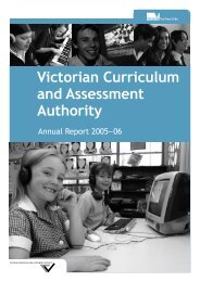 Victorian Curriculum and Assessment Authority - Department of ...