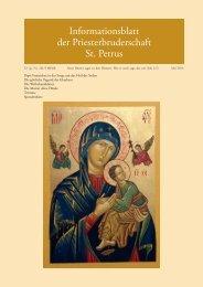 Mai 2013 - Priesterbruderschaft St. Petrus