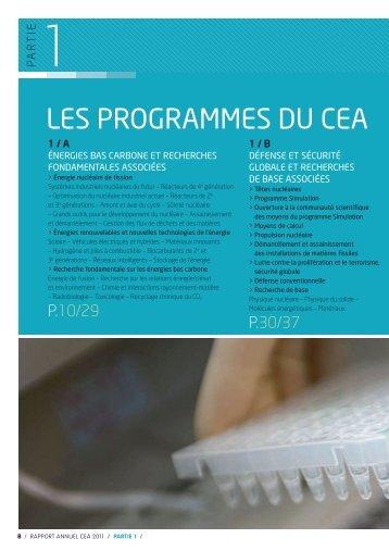 Les programmes du CEA