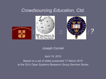 Crowdsourcing Education, Ctd. - Metameso.org