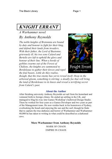 KNIGHT ERRANT - The Black Library