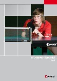 Sponeta - Tischtennis Katalog Fachhandel 2015 (deutsch)