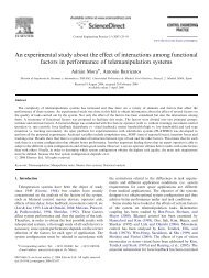 An experimental study about the effect of interactions among ...