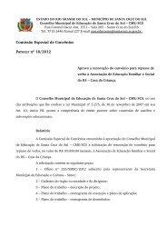 Parecer nº 18, de 03 de dezembro de 2012 - Prefeitura de Santa ...