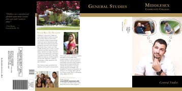 GENERAL STUDIES MIDDLESEX - Middlesex Community College
