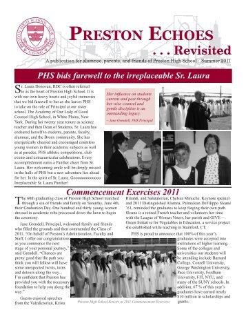 PRESTON ECHOES . . . Revisited - Preston High School