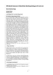 Initiativanträge - SPD-Bezirk Hannover