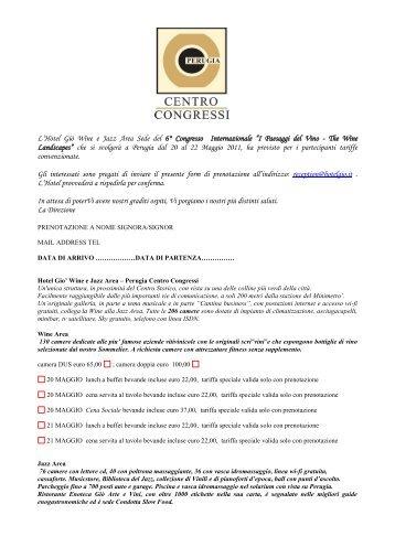 Hotel_FORM di prenotazione.pdf - Geologia e Turismo