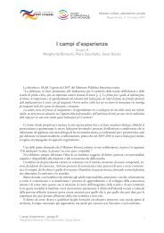 I campi d'esperienza - Edizioni Junior