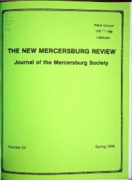 the new mercersburg review - DSpace - Lancaster Theological ...