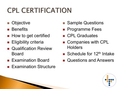 Sample Questions Programme Fees CPL     - CILT Singapore