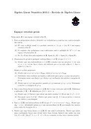 revisão de álgebra linear - PUC-Rio