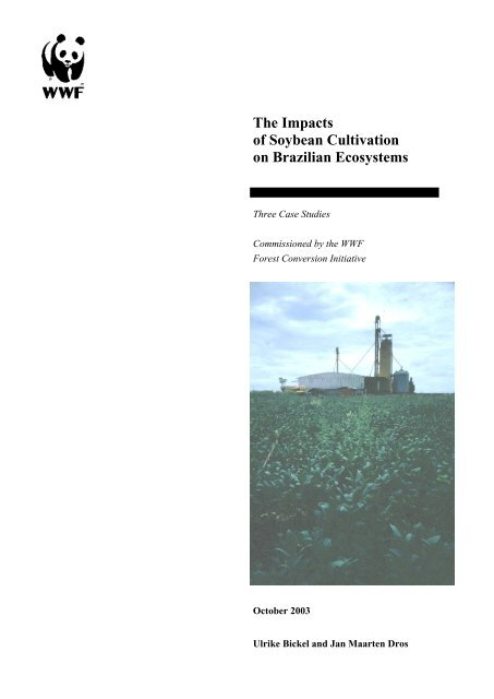 The Impacts of Soybean Cultivation on Brazilian Ecosystems