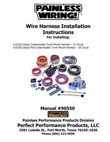wire harness installation instructions for installing painless wiring?quality=85 18sp546* � �\u201c install ddec ii to ddec iv wire harness and ddcsn Fort Worth TX Map at alyssarenee.co