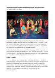 Sachbericht Kindertheaterprojekt 2. Halbjahr 2012 - Musische ...