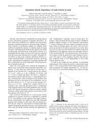 Anomalous density dependence of static friction in sand - APS Link ...