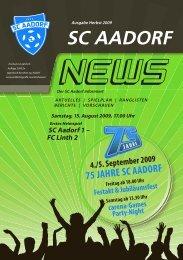 SCA-News Herbst 2009 - SC Aadorf