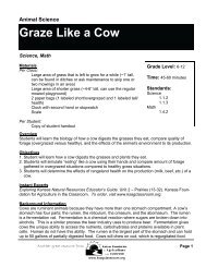 Graze Like a Cow - Kansas Foundation for Agriculture in the ...