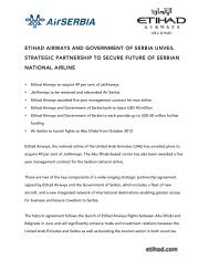 etihad airways and government of serbia unveil strategic ... - Prezly