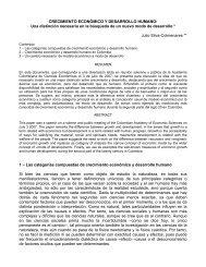 CRECIMIENTO ECONÓMICO Y DESARROLLO HUMANO: Una ...