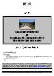 Recueil 7-2013 du 1er juillet - 8,76 Mb - Préfecture de la Marne