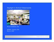Daylight in School Classrooms - Coldham & Hartman Architects