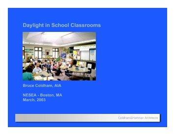 Daylight in School Classrooms - Coldham & Hartman Architects