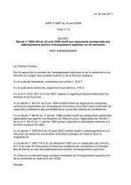 Le 16 mai 2011 JORF n°0097 du 25 avril 2009 Texte n°13 ... - ED 101