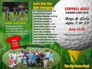 Coppell Golf Summer Camp