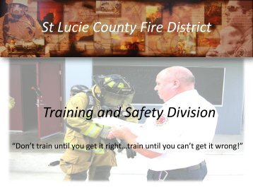 Training & Safety - St. Lucie County Fire District
