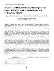 Prevalence of Methicillin Resistant Staphylococcus Aureus (MRSA ...