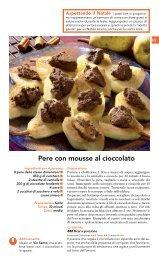 Pere con mousse al cioccolato - Nuovoconsumo.it