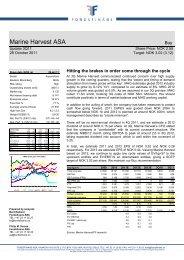 Marine Harvest ASA - Fondsfinans