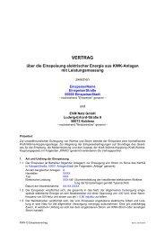 Download PDF: KWK-G Einspeisevertrag mit ... - EVM Netz