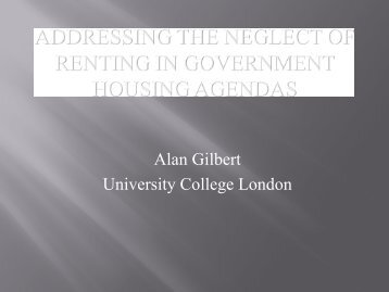 como fomentar la vivienda de alquiler en los barrios - International ...