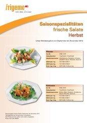 Saisonspezialitäten frische Salate Herbst - Gourmador Zollikofen