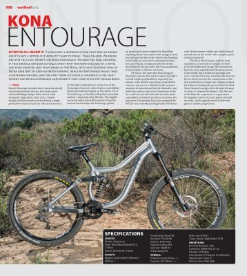 SPECIFICATIONS - Kona