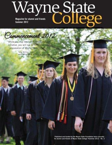 Summer 2012 - Wayne State College