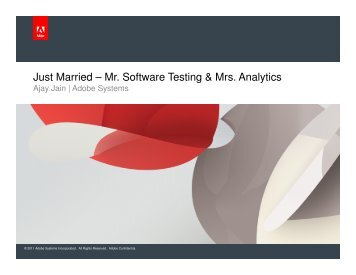 Just Married – Mr. Software Testing & Mrs. Analytics