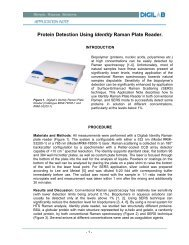 Protein Detection Using Identity Raman Plate Reader. - Digilab