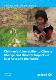 Children's Vulnerability to Climate Change and Disaster ... - Unicef