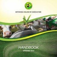 HANDBOOK - Botswana College of Agriculture