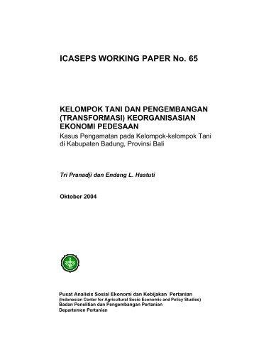 (Transformasi) Keorganisasian Ekonomi Pedesaan - Pusat Sosial ...