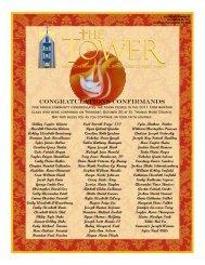 congratulations confirmands - St. Thomas More Catholic Church